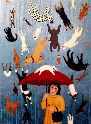 Raining Cats and Dogs - Sold -