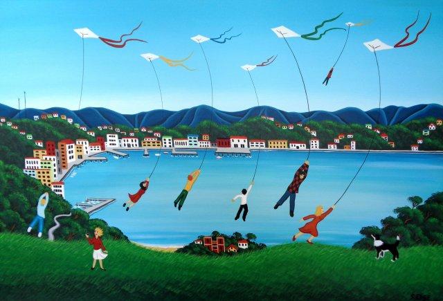 Kites on Mt. Victoria
