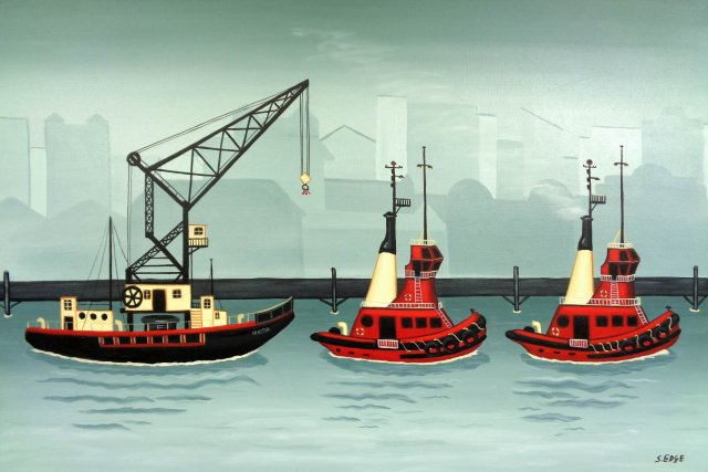 Two Red Tugs and the Hikitia