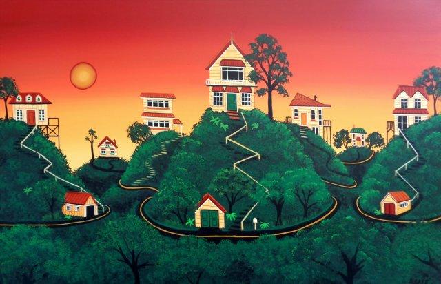 Sundown in the Hill Suburbs