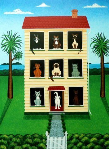 House and Nine Cats Sold
