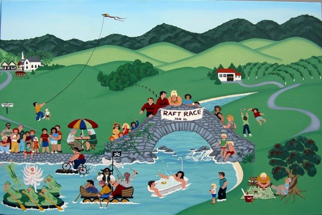 Raft Race diptych rhs Sold