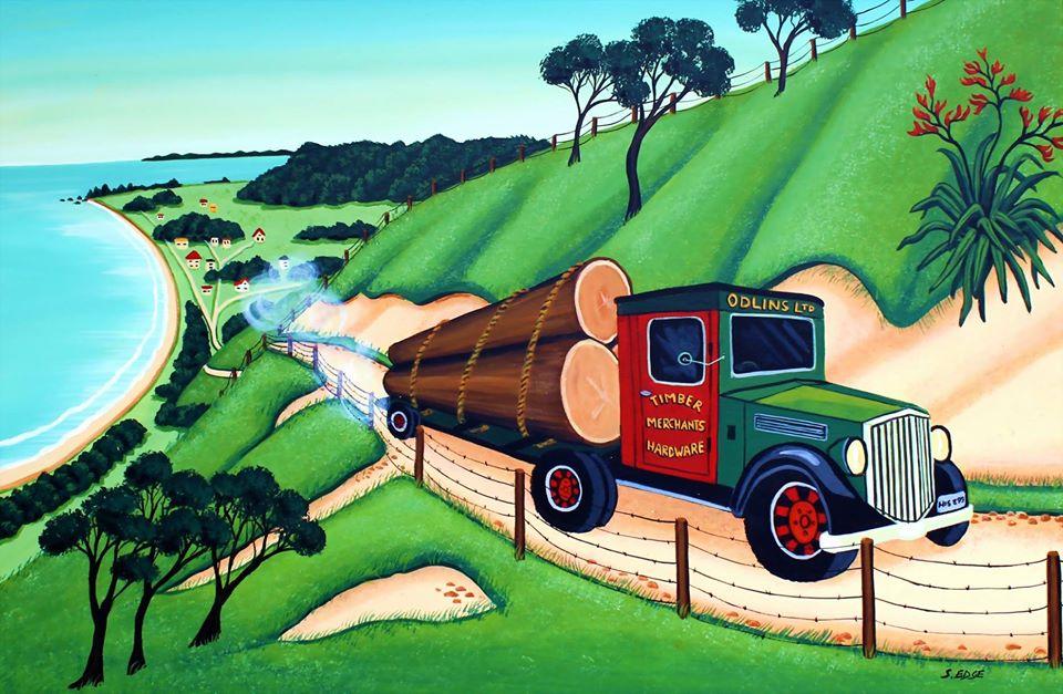 Logging Truck Paekakariki Hill